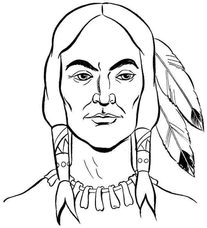 Pilgrims and indians coloring pages az coloring pages for Indian coloring pages for thanksgiving