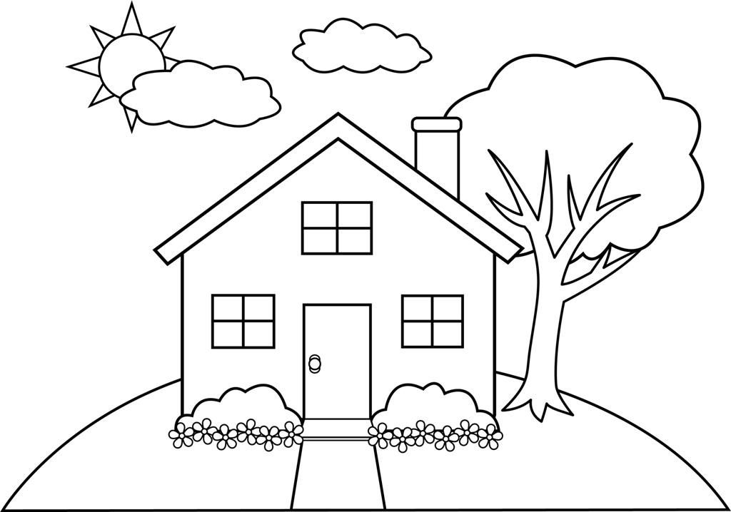 Coloring Pages Of Houses Coloring Home