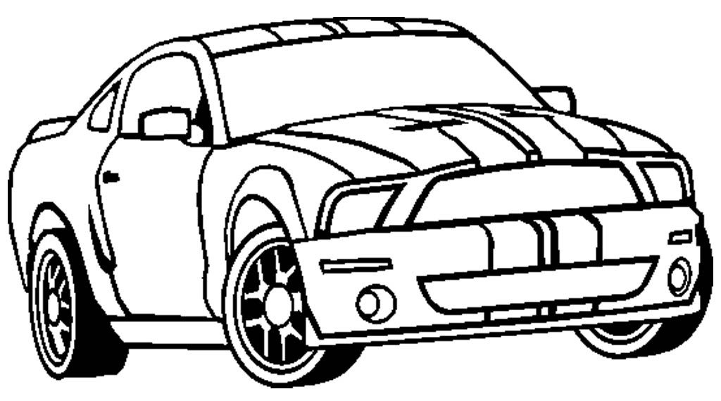 Shelby Mustang GT 350 Coloring Page - Mustang Car Coloring Pages