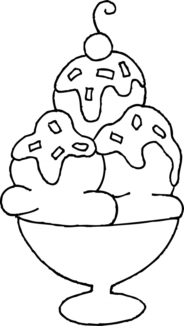 Ice Cream Sundae Coloring Page Free Clip Art 217306 Ice