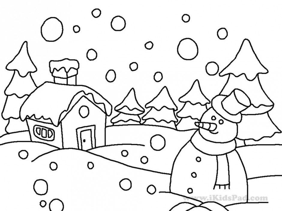 free coloring pages winter wonderland - photo#3