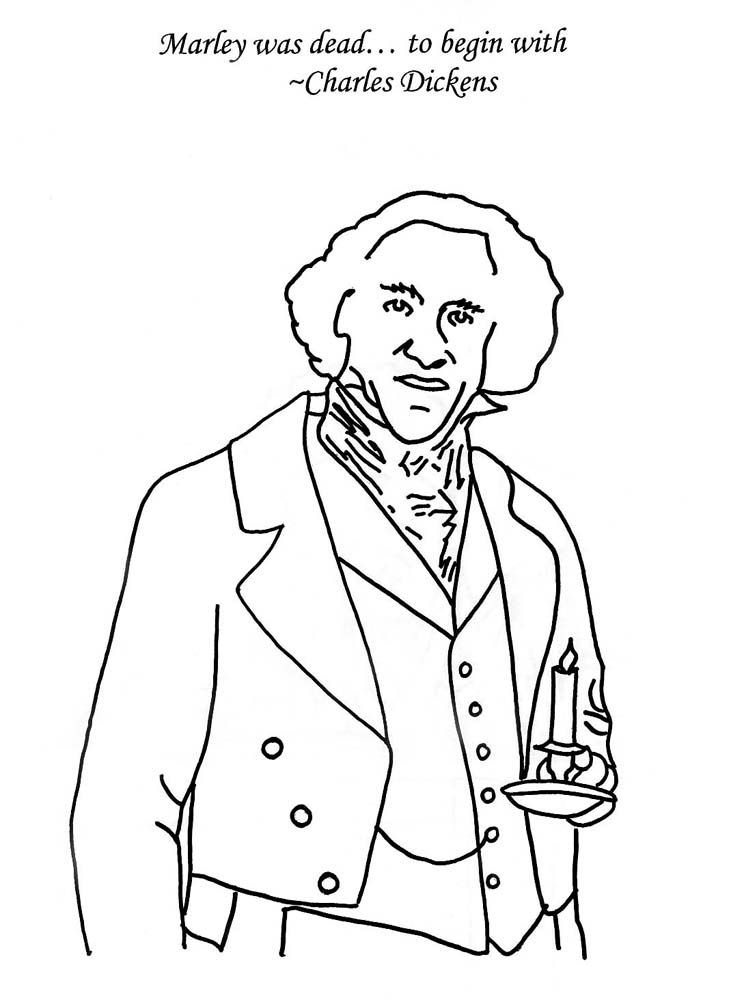 A Christmas Carol Colouring Pages