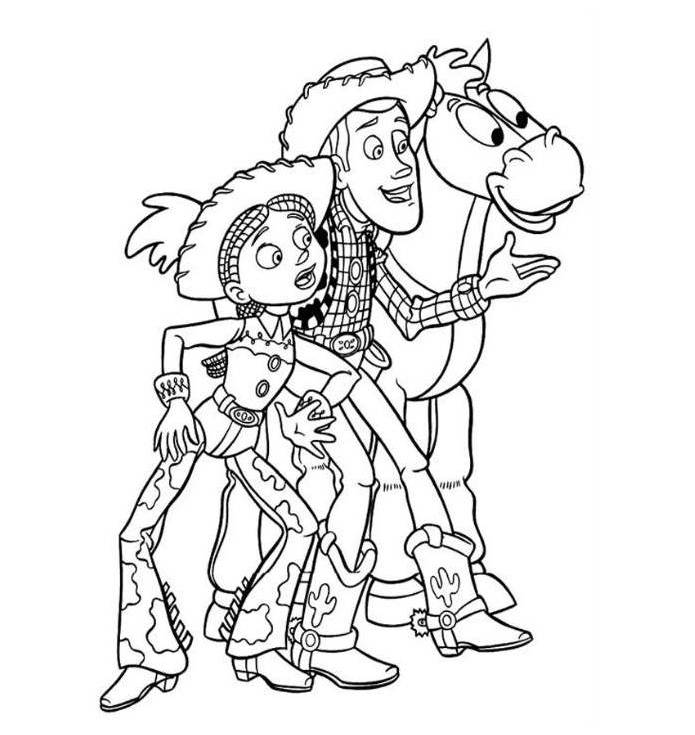 jesse and woody coloring pages - photo#5