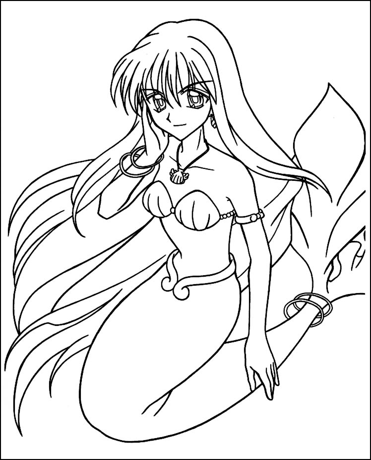 Free Cute Anime Mermaids Coloring Pages Coloring Anime Mermaid