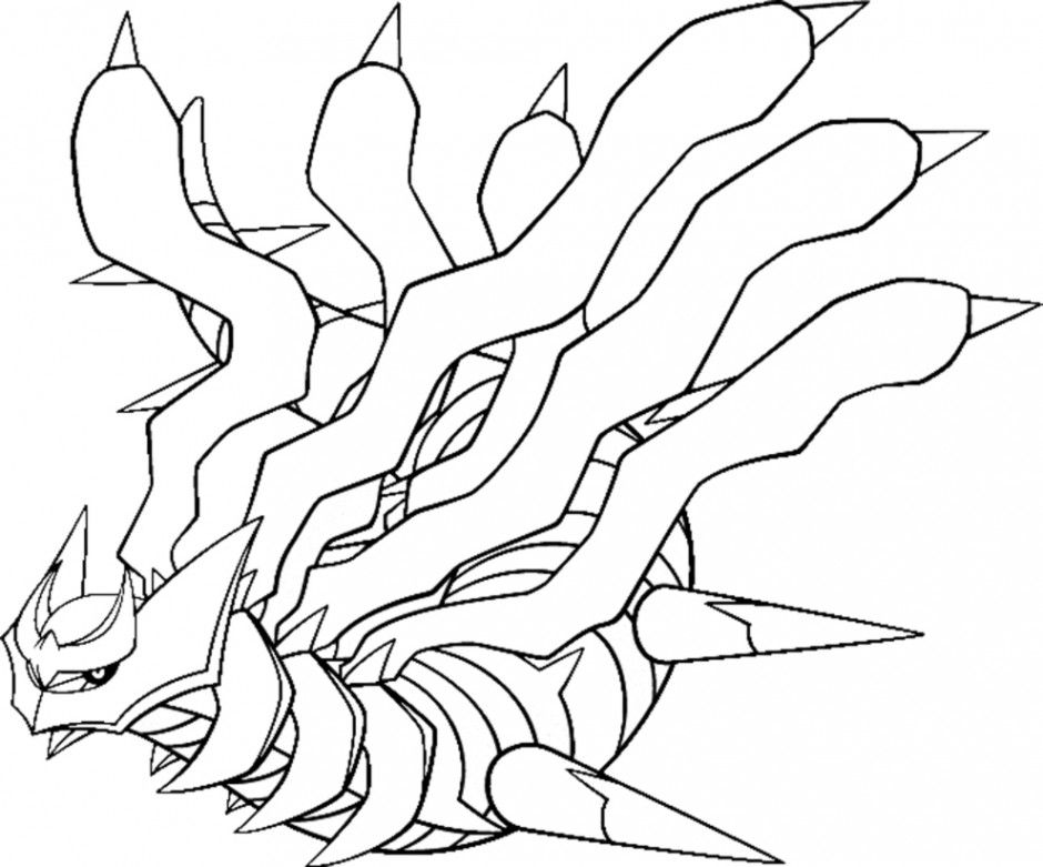 coloring pages giratina - photo#14