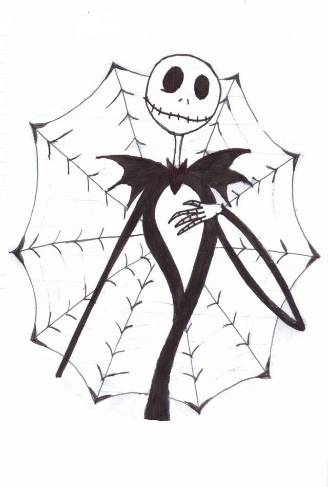 Jack Skeleton Coloring Pages - Coloring Home