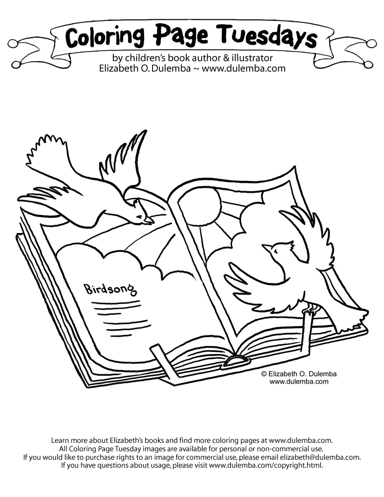 dulemba: Coloring Page Tuesday - Birdsong