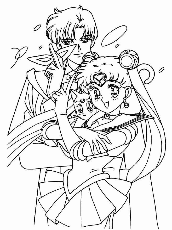 Sailor moon printable coloring pages az coloring pages for Coloring pages sailor moon