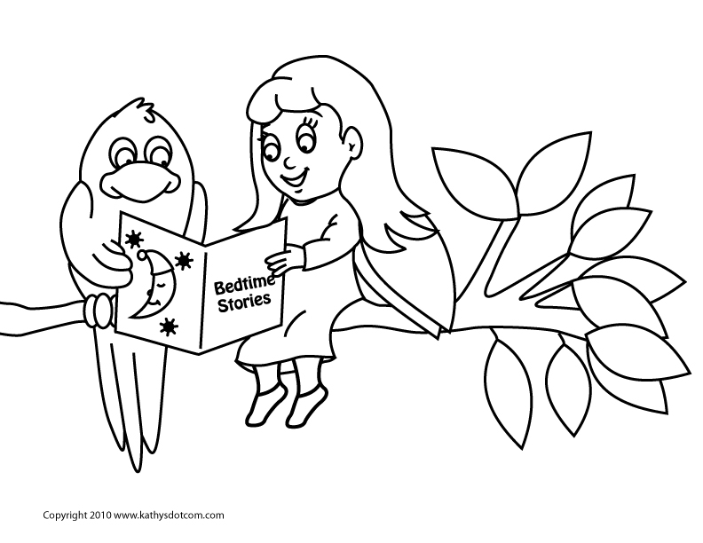 bed time coloring pages - photo #30