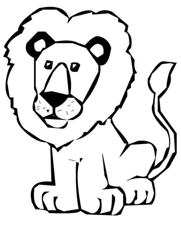 Lion face drawing for kids