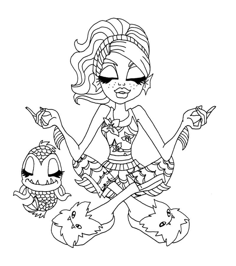 monster high coloring pages lagoona - photo#15