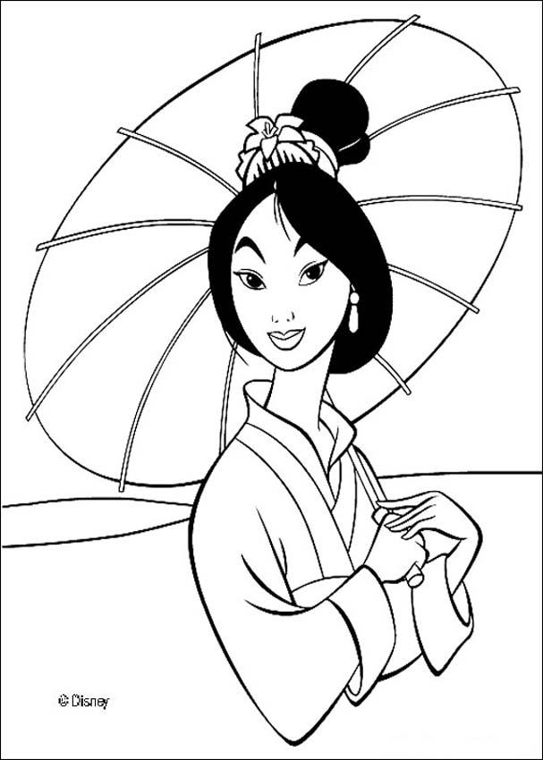 Mulan coloring pages : 28 free Disney printables for kids to color