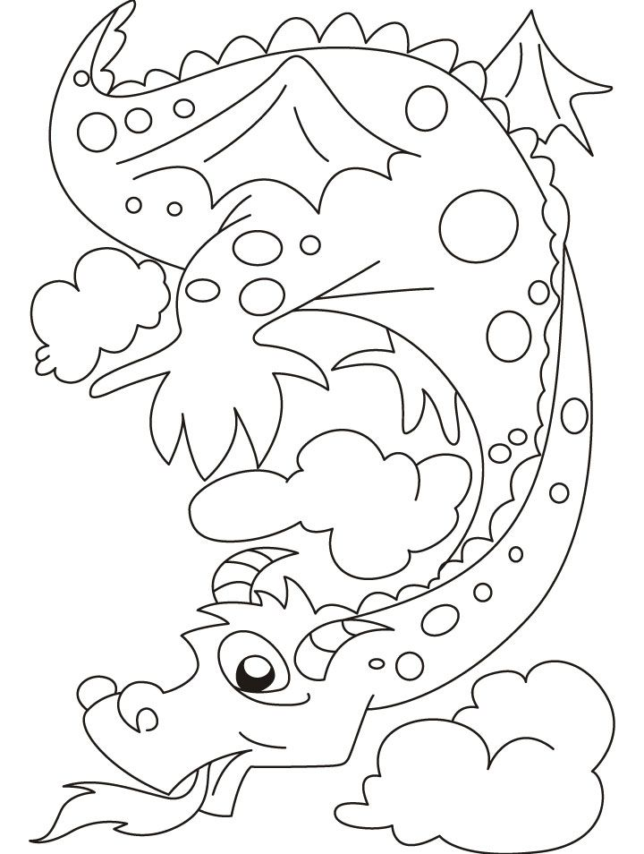 Free Printable Dragon Coloring Pages - Coloring Home