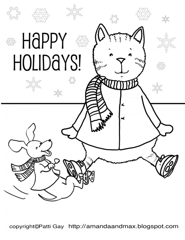 Happy Holidays Coloring Pages AZ Coloring Pages