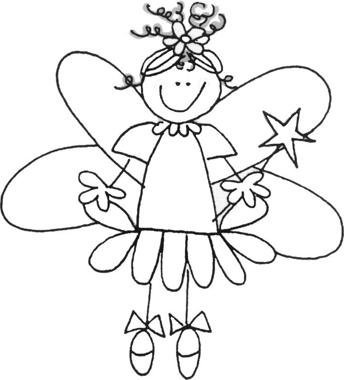 Tooth fairy coloring pages for kids az coloring pages for Tooth fairy coloring page