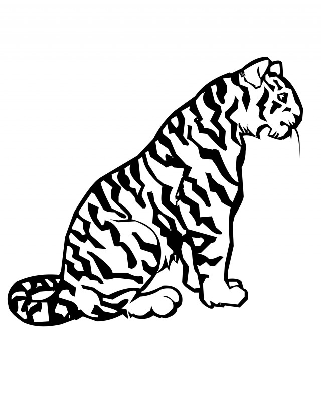 Tiger printables az coloring pages for Coloring pages of tiger cubs