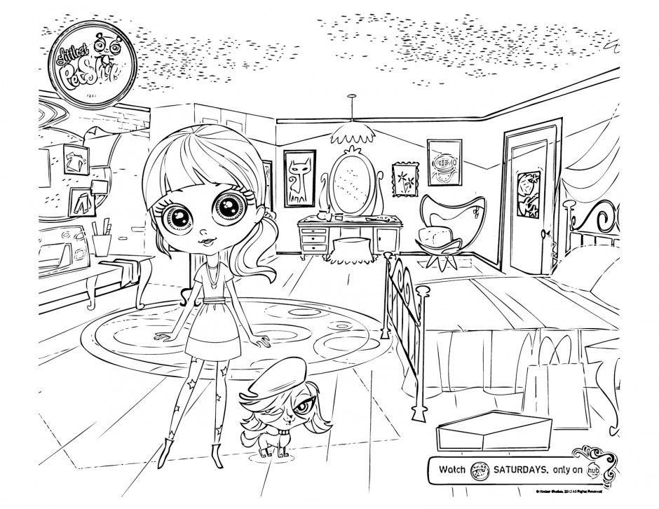 LITTLEST PET SHOP coloring pages - 12 LPS figurine dolls online ... | 726x940