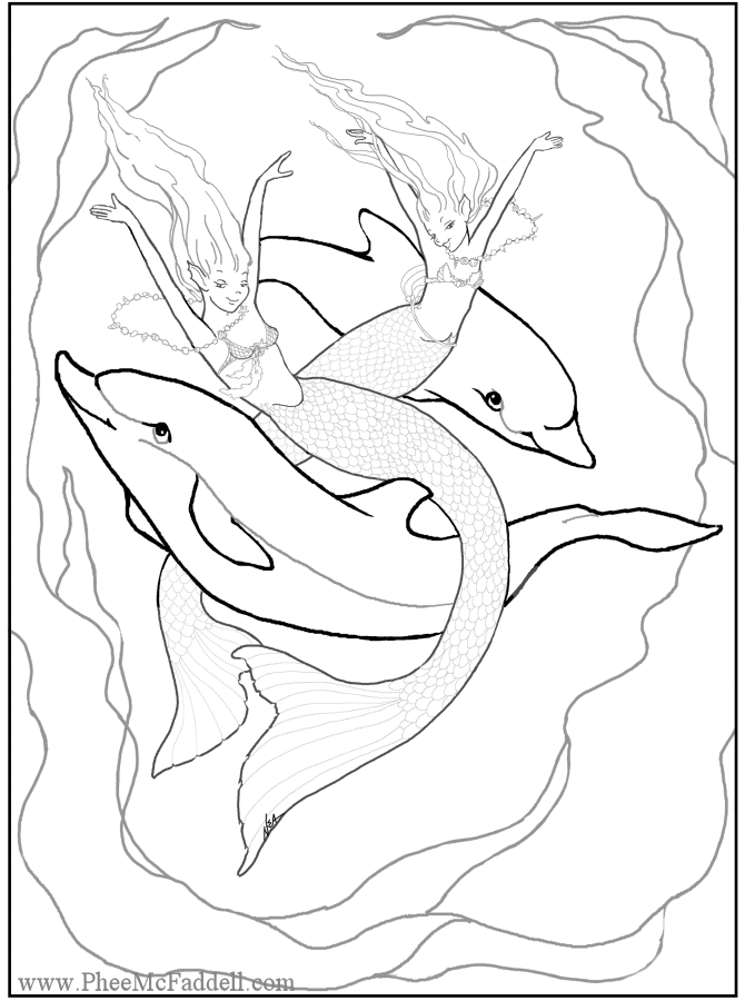 free fantasy art coloring pages - photo#12