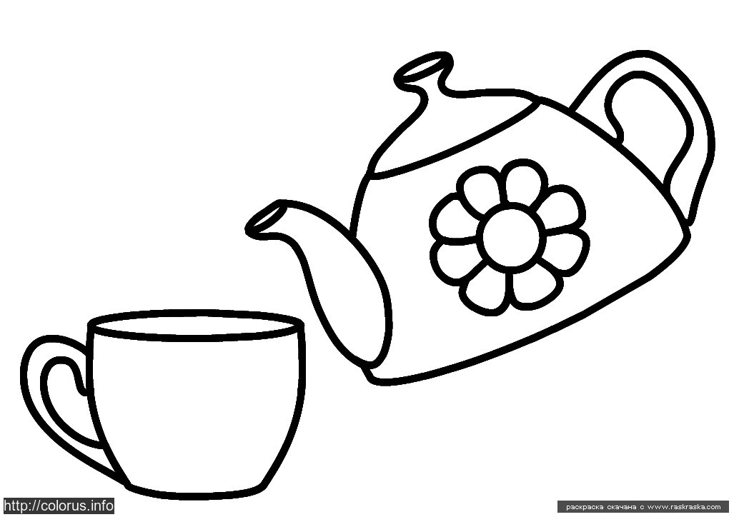 i am a little teapot coloring pages - photo #45