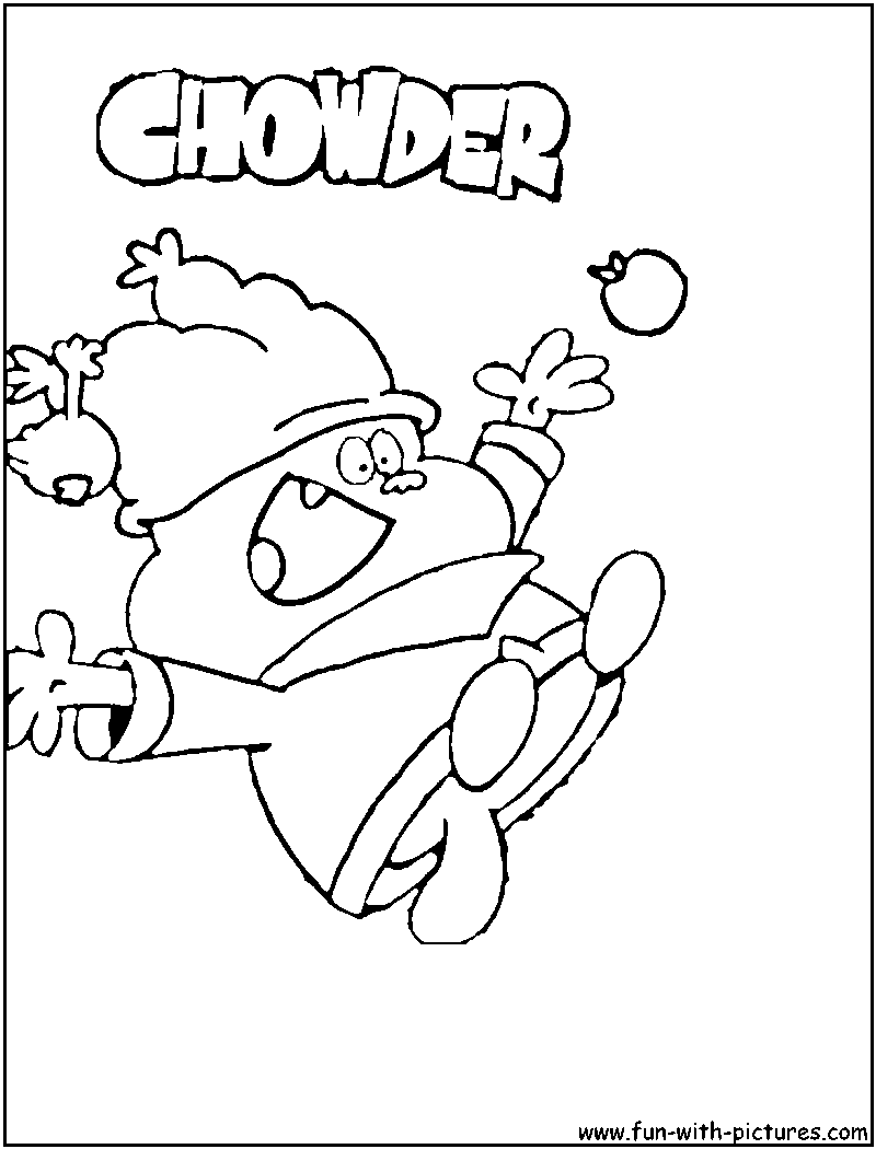 Chowder Coloring Pages To Print Coloring Home