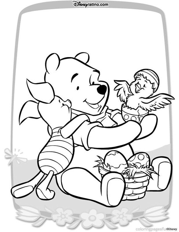 Easter Disney Character Coloring Pages 4 | Free Printable Coloring