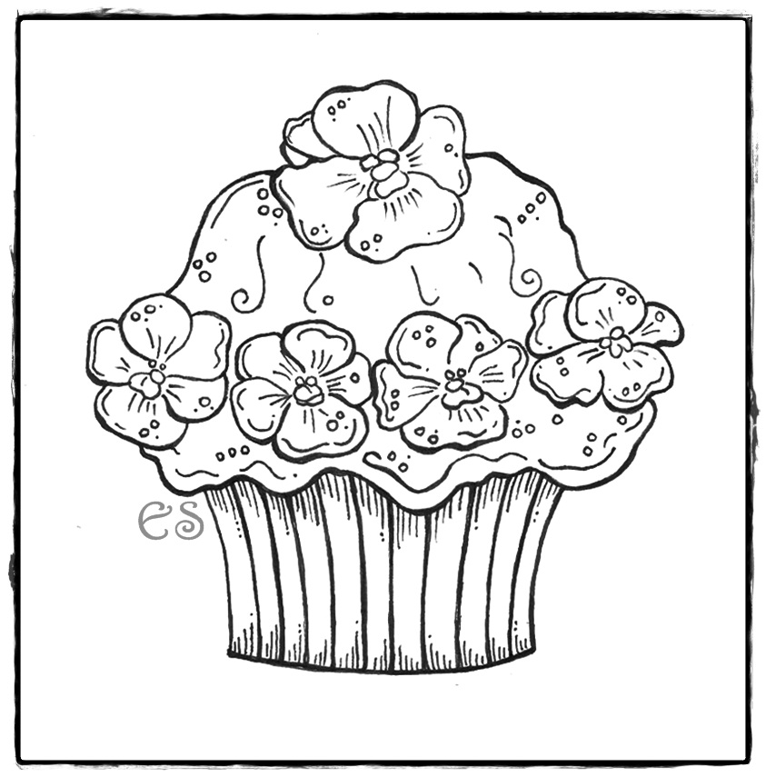 Cupcake coloring page az coloring pages - Dessin cupcake ...