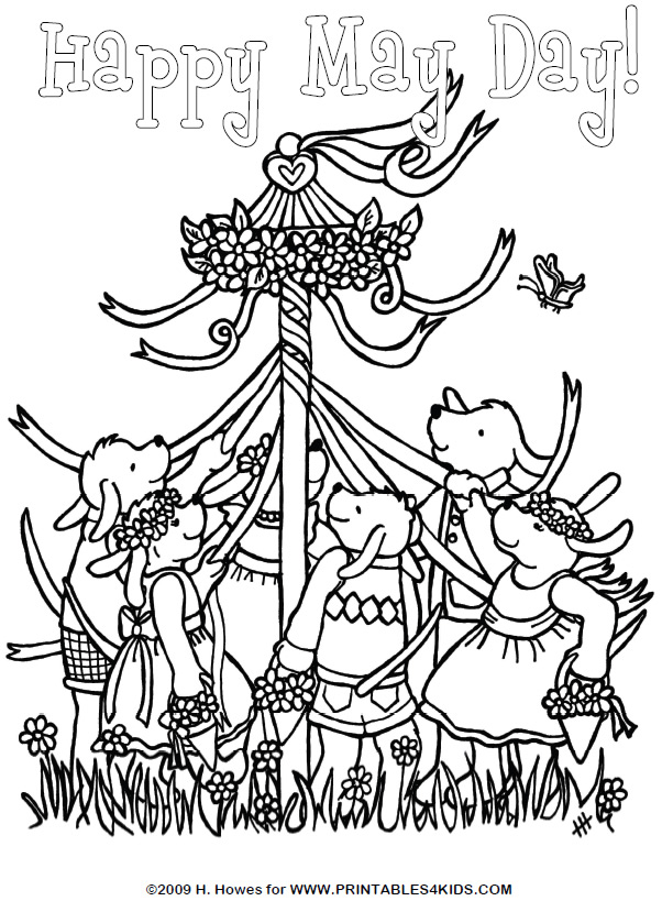 free may day coloring pages - photo#1