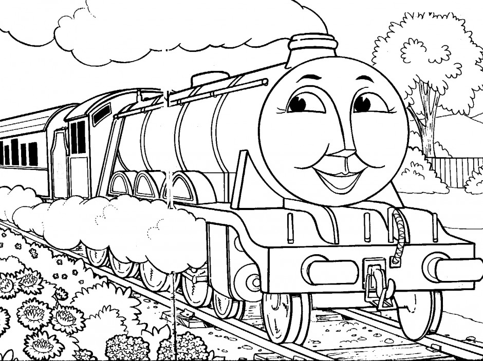 thomas the train coloring page az coloring pages