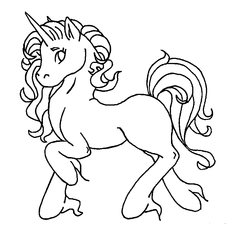 Coloring Pages For Unicorns : Unicorn pony coloring pages