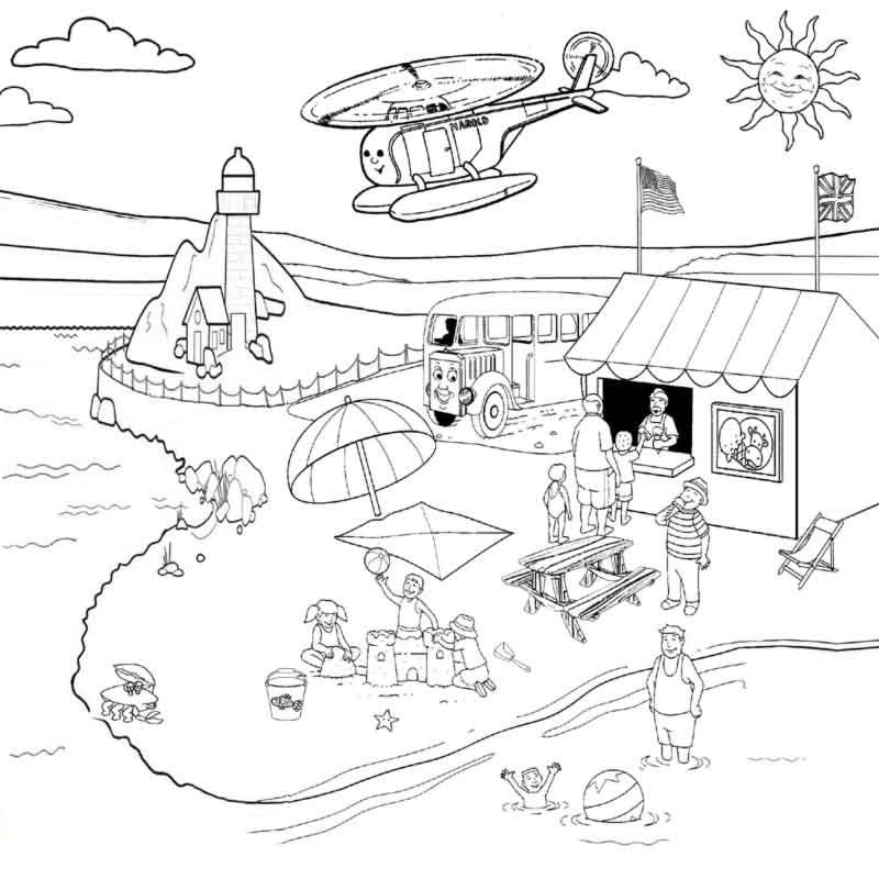 cool beach coloring pages | Coloring Pages For Kids