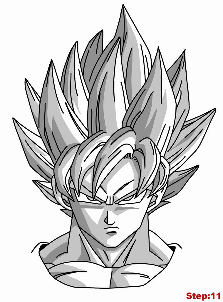 how to draw goku super saiyan from dragonball z how to draw manga 3d