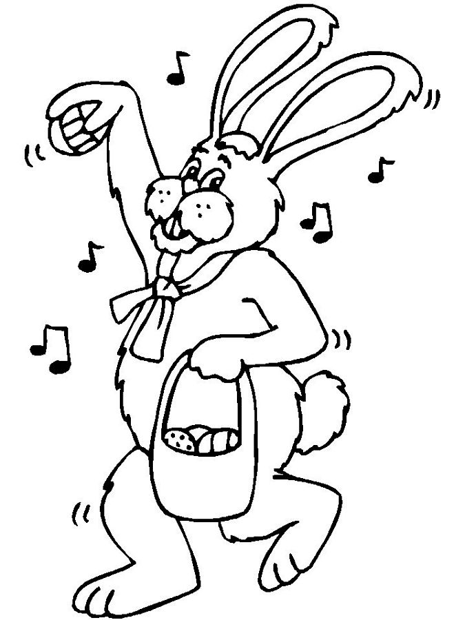 Easter Bunny Coloring Pages - part I