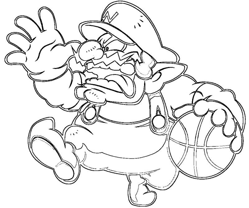 wario coloring pages - photo#11