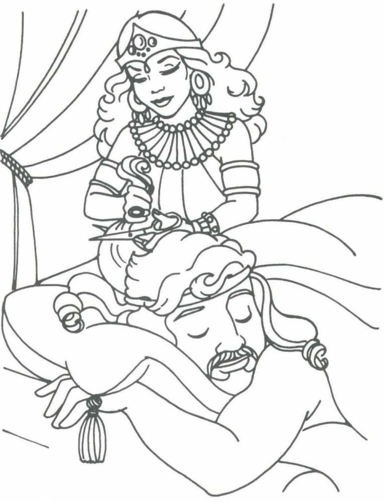 Samson Bible Coloring Pages - Coloring Home
