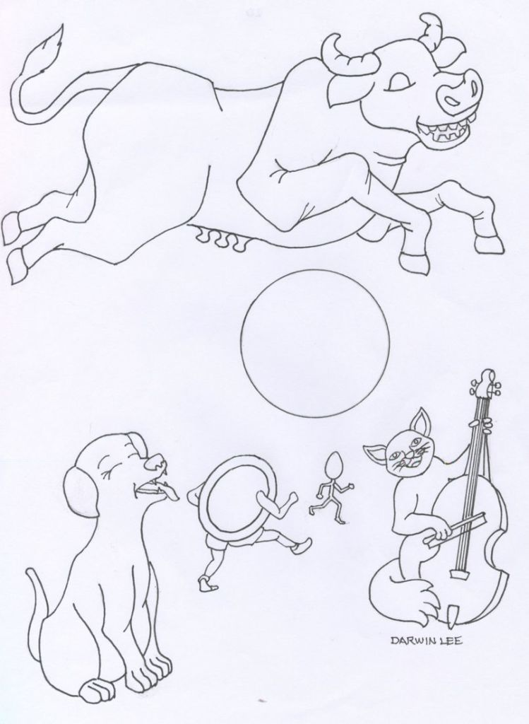 hey diddle diddle coloring pages - photo#24