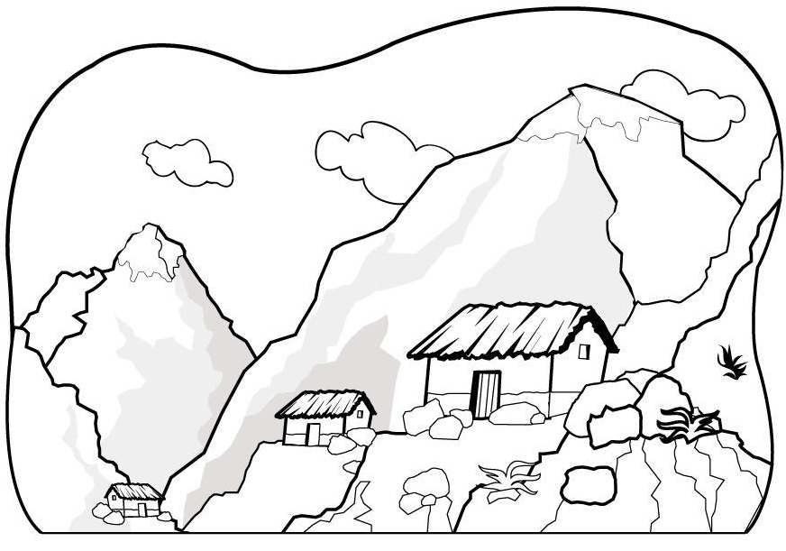 coloring pages mountains - photo#21