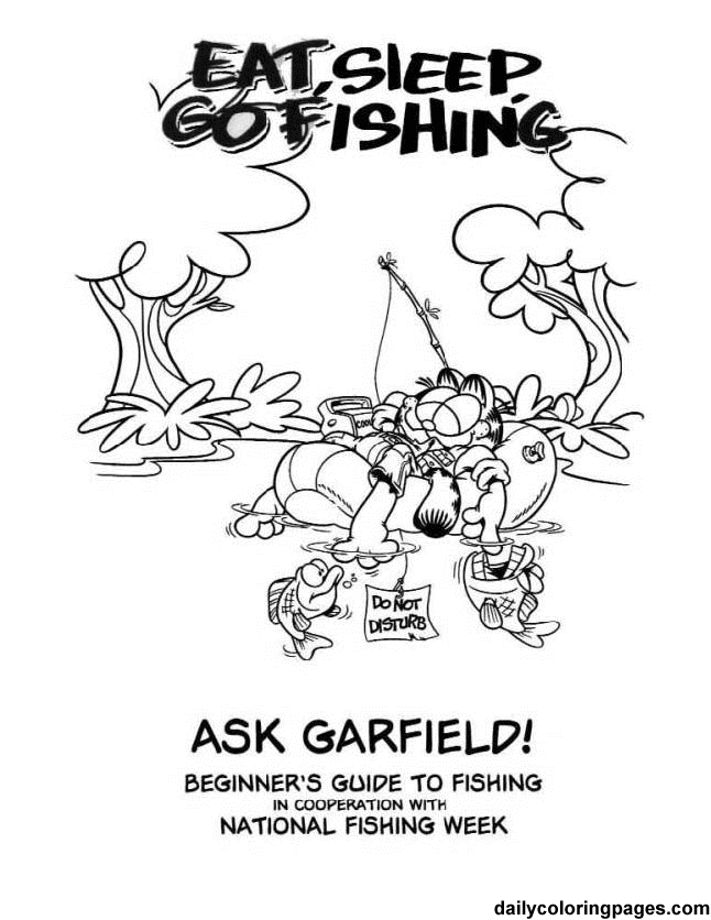 Garfield Fishing Coloring Book