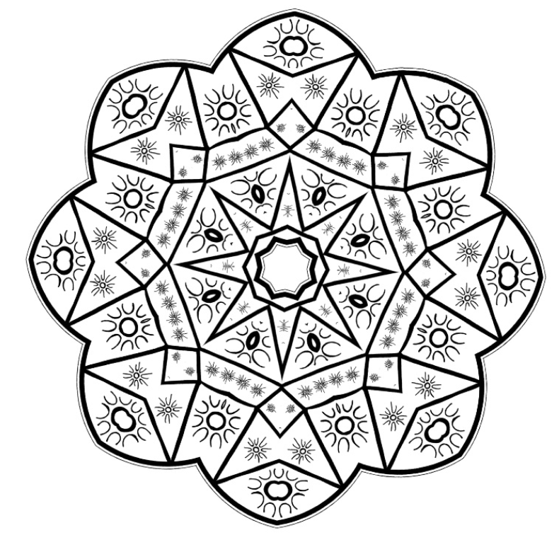 Mandala Mondays - Mandala Coloring 1 - New World Creations