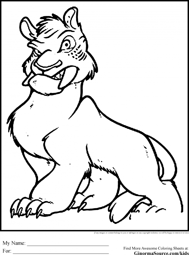 the croods tiger coloring pages - photo#3