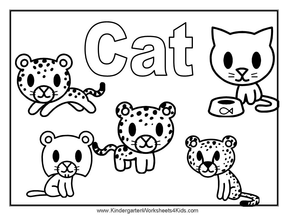 dog and cat coloring pages - photo#7