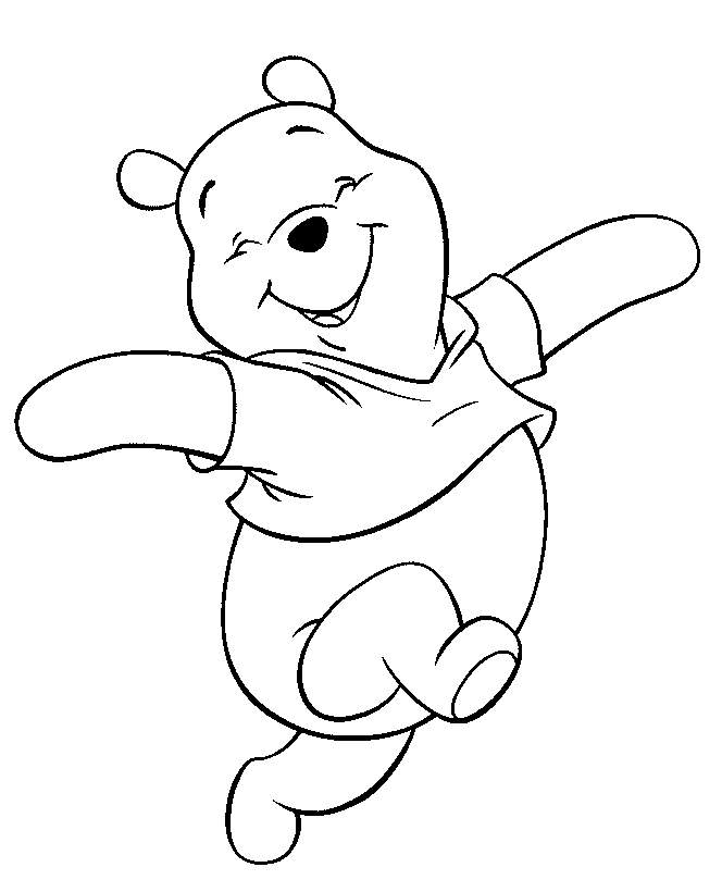 clasic poooh coloring pages - photo#1
