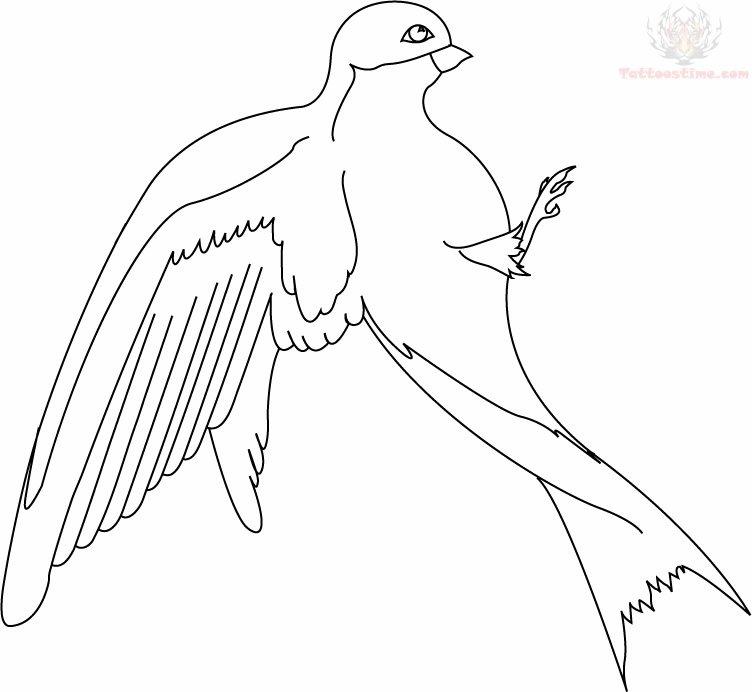 Flying Birds Drawing Tattoo Flying Bird Swallow Tattoo