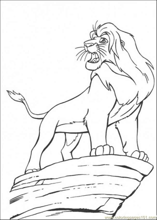 simba the lion king Colouring Pages