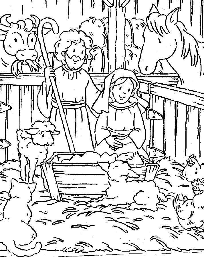 christmas coloring pages baby jesus - photo#2