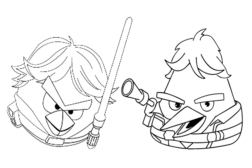 Angry bird star wars coloring pages - photo#25