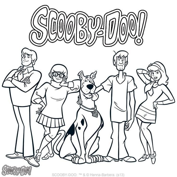 Scooby Doo coloring page | Scooby Doo Party | Pinterest