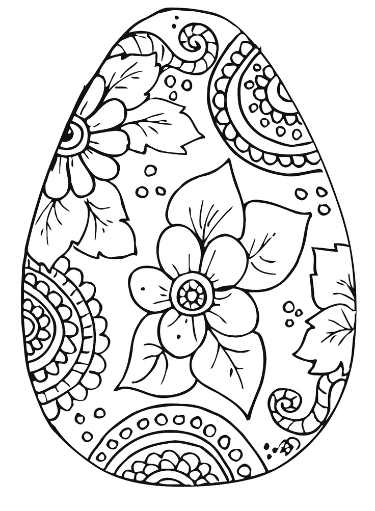 Free printable easter egg coloring pages az coloring pages for Free easter coloring page