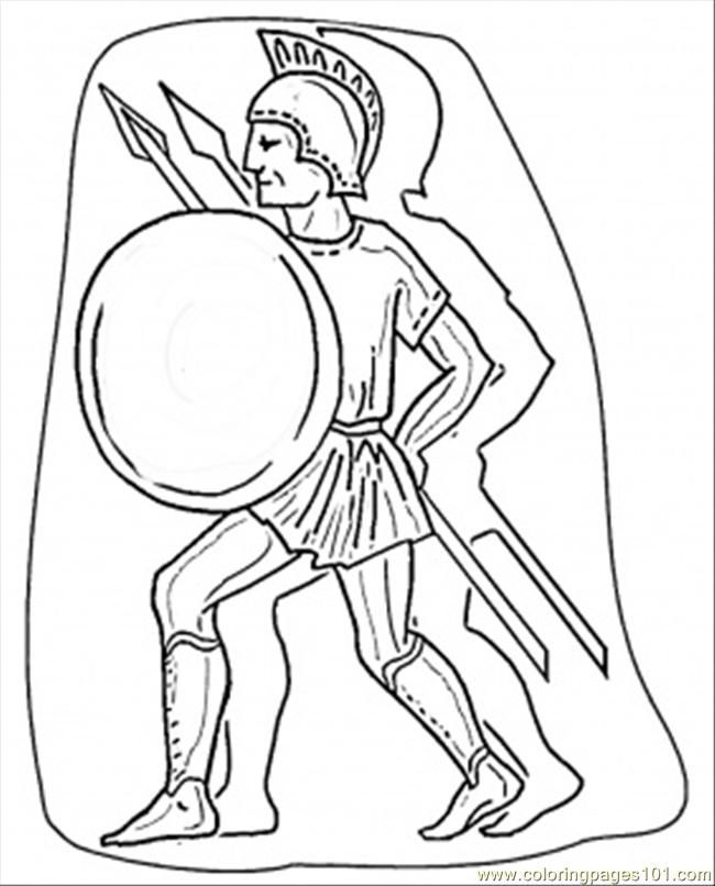 Coloring Pages Italian Warrior Countries Italy Free