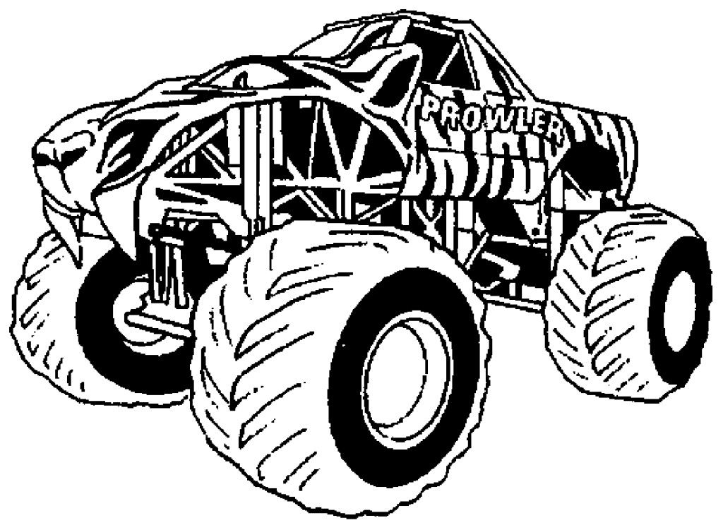 Monster Trucks Coloring Pages - Free Coloring Pages For KidsFree