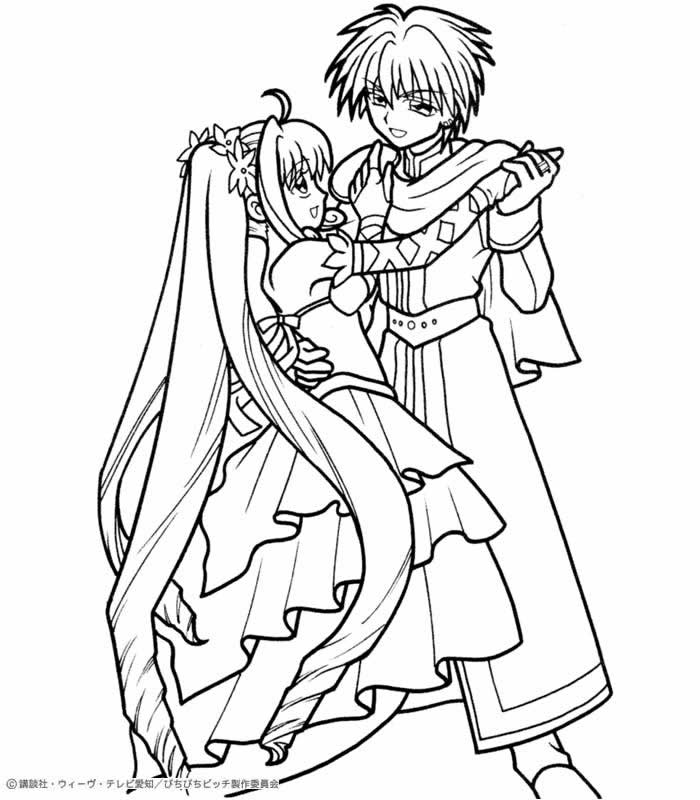 MERMAID MELODY coloring pages - Luchia with Kaito